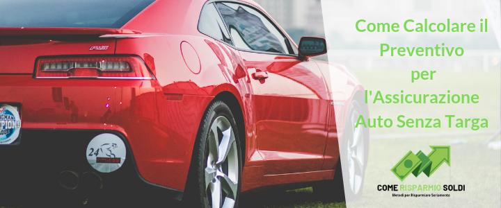 preventivo assicurazione auto senza targa