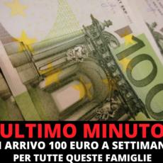 100 euro a famiglia, ogni settimana