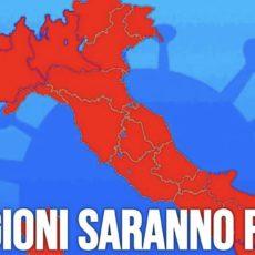 8 regioni in zona rossa