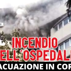 Terribile incendio nell'ospedale