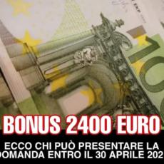 Arriva il bonus da 2400 euro
