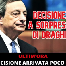 La decisione a sorpresa di Draghi