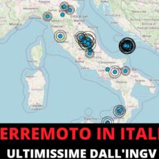 Italia: terremoto in diverse regioni