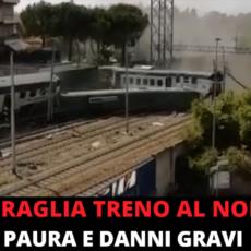 Treno deragliato al nord, gravi danni