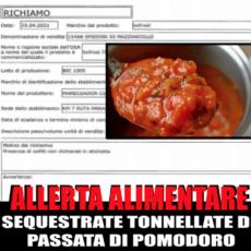 Italia: Allerta alimentare passata di pomodoro