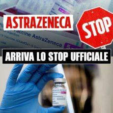 Astrazeneca: STOP ufficiale