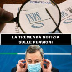 Brutta notizia per le pensioni