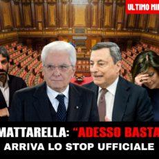 """Mattarella sbotta: """"Adesso basta"""""""